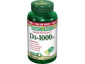 Image 0 of Nature's Bounty Vitamin D3 1000 Mg Soft Gels 250