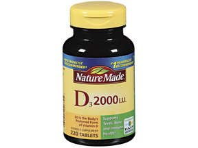Image 0 of Nature Made Vitamin D3 2000IU Tablets 220