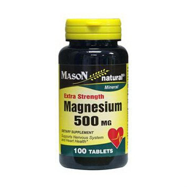 Image 0 of Mason Natural Magnesium 500 mg extra strength tablets - 100 ea
