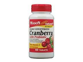 Image 0 of Mason Natural Highly Concentrated Cranberry with Probiotic, Tablets 60 EA
