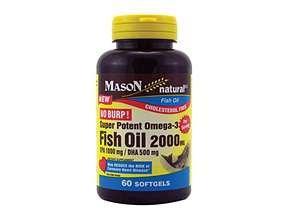 Image 0 of Mason Natural Fish Oil 2000 Mg Super Potent Omega-3 Softgels - 60 Ea