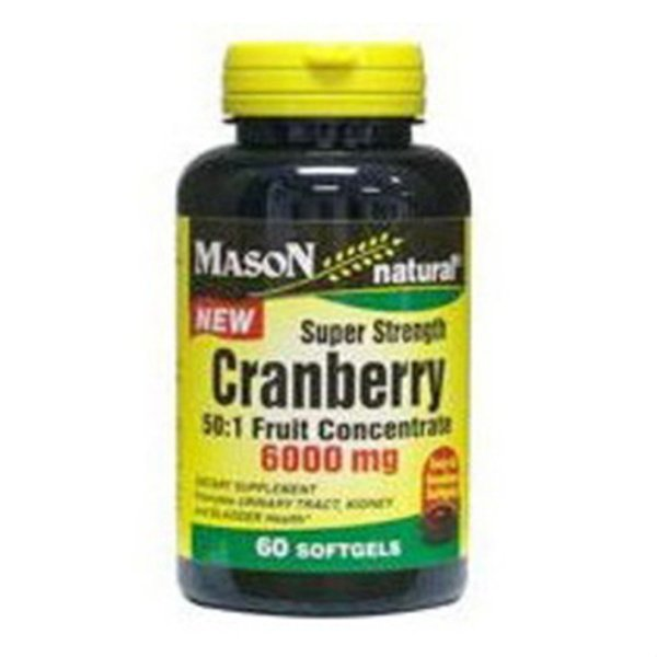 Image 0 of Mason Natural Cranberry super strength 50:1 fruit concentrate softgels