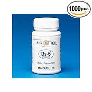 Image 0 of Vitamin D3 5000IU 100 Caps By Bio-Tech