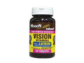 Image 0 of Mason Natural Vision Vitamins Tablets with Lutein - 60ct