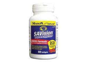 Image 0 of Mason Vitamins Mason natural savision with bilberry extract eye vitamin softgels