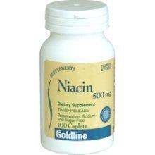 Goldline (Teva) Niacin 500 MG Caplets Timed-Release - 100ct by Teva Pharma