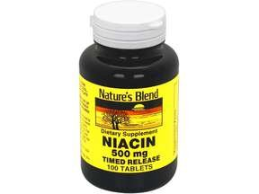 Nature's Blend Niacin 500 Mg Timed Release 100 Tabs