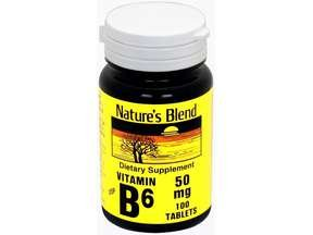 Nature's Blend Vitamin B6 50 MG Tablets 100