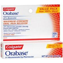 Orabase maximum Strength Toothpast Alcohol Free 20% 12 Gm