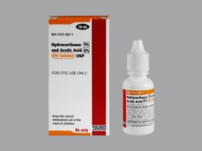 Acetic Acid/Hydrocortisone 2-1% Drop 10 By Taro Pharma