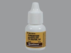 Acetic Acid/Hydrocortisone 2-1% Drop 1X10 Ml Mfg.by:Qualitest Prod Inc, USA.