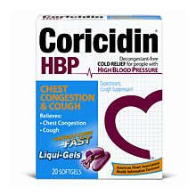 Coricidin HBP Chest Congetion & Cough Liqui - Gels 20ct