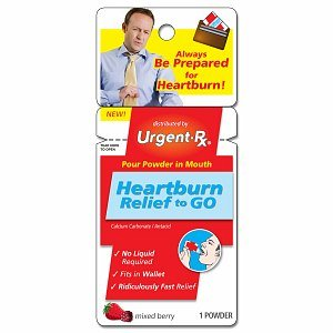 UrgentRx Heartburn Relief Powder Packets Mixed Berry 12x1 ea