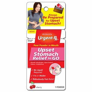 UrgentRx Upset Stomach Relief Powder Packets Cherry 12x1 ea