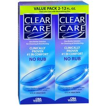 Clear Care Disinfecting Solution Twin Pack 2x12 Oz