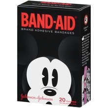 Band-Aid Adhesive Bandages Mickey Mouse Assorted 20 Ct.