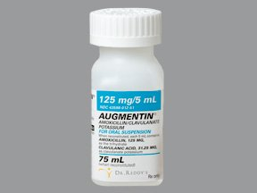 Augmentin 125/5Ml Powder Oral Solution 75 By Dr Reddys Labs