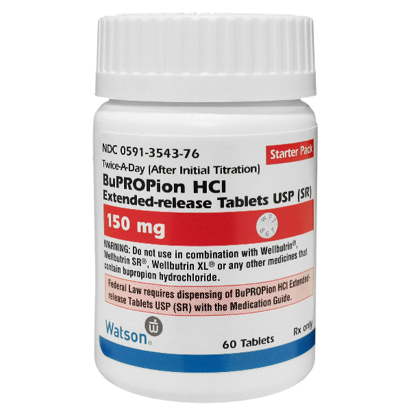 Image 0 of Bupropion SR 150 Mg Hcl 60 Tabs By Actavis Pharma.