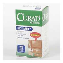 Curad Adhesive Bandages Flex Fabric Assorted 100 Ct.