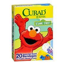 Curad Adhesive Bandages Sesame Street Assorted 20 Ct.