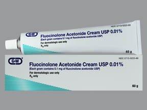 Fluocinolone Acetonide 0.01% Cream 60 Gm By G & W Laboratories