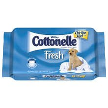 Image 0 of Kleenex Cottonelle Moist Wipes Refill 12x42 Ct