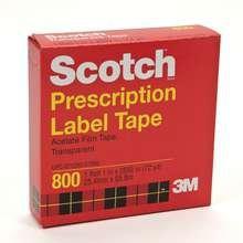 Scotch Prescription Label Tape 1 In x 72 Yd Boxed