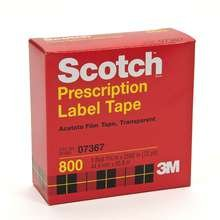 Scotch Prescription Label Tape 1.75 In x 72 Yd Boxed