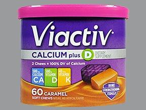 Viactiv Calcium+D Caramel 60 Chews