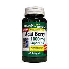 Image 0 of Mason Acai Berry 1000mg Super Fruit Softgels 60 ct