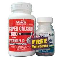 Image 0 of Mason Calcium Super 600mg w/D Tablets 100 ct