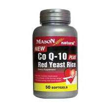 Image 0 of Mason Co Q-10 Plus Red Yeast Rice Softgels 50 ct