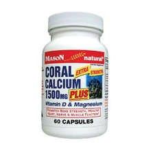 Image 0 of Mason Coral Calcium 1500mg Plus Capsules 60 ct