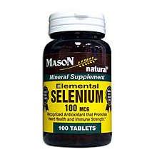 Image 0 of Mason Elemental SelenIUm 100mcg Tablets 100 ct