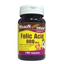 Image 0 of Mason Folic Acid 800mcg Tablets 100 ct
