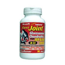 Image 0 of Mason Glucosamine Chondroitin Flexi Joint Plus MSM 1000 Tablets 90 ct