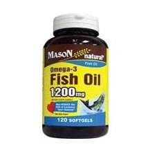 Mason Omega-3 Fish Oil 1200mg Softgels 120 ct