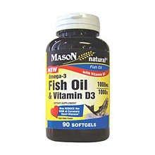 Image 0 of Mason Omega-3 Fish Oil 1000mg & D3 Softgels 90 ct
