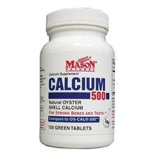 Image 0 of Mason Oyster Shell Calcium 500mg + Vitamin D3 Tablets 100 ct