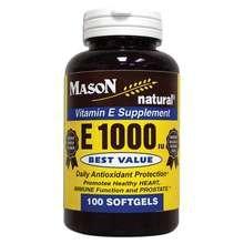 Image 0 of Mason Vitamin E 1000IU Softgels 100 ct