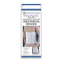 Image 0 of FLA Abdominal Binder Surgical Woven 12'' 4 Panel Large