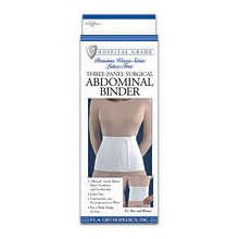 Image 0 of FLA Abdominal Binder Surgical Woven 9'' 3 Panel Small