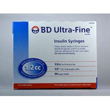 B-D Ultra-Fine 12.7MM 30G x 0.5CC 100ct