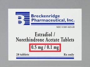 Estradiol-Noreth 0.5-0.1 Mg 28 Tabs By Breckenridge Pharma