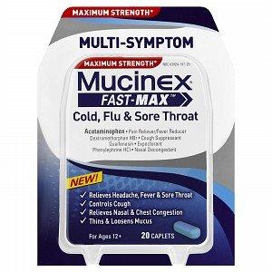 Mucinex Maximum Cold  Flu and Sore Throat Caplet 20