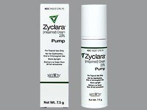 Zyclara 2.5% Cream Pump 7.5 Gm. By Valeant Pharma