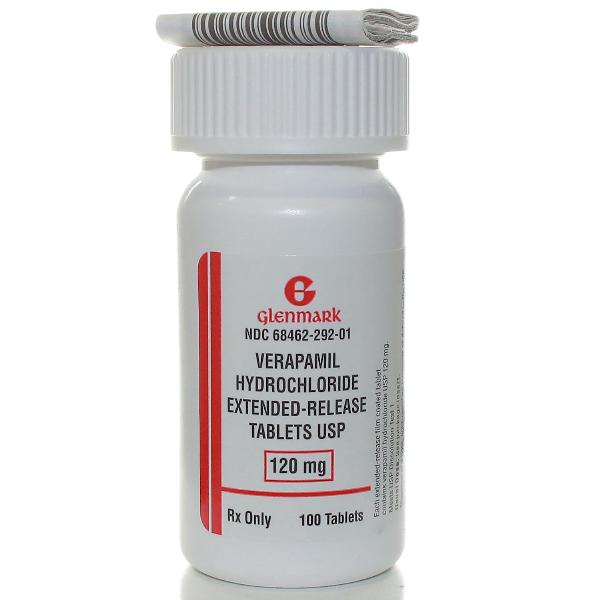 Verapamil Hcl ER 120 Mg Tabs 100 By Glenmark Generics