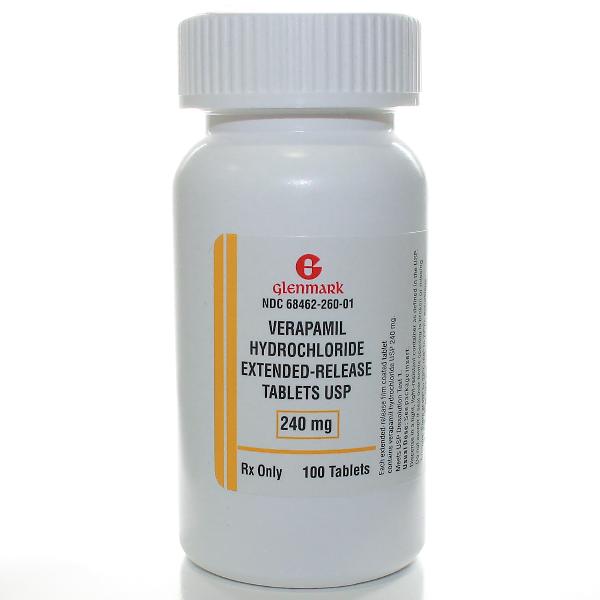 Verapamil ER 240 Mg Tabs 100 By Glenmark Generics