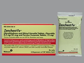 Zenchent Fe 0.40.035Mg Chewable 3X28 Each Mfg.by:Watson Labs, USA. Rx Required