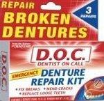 Dentemp Denture Repair Kit 3 Ct